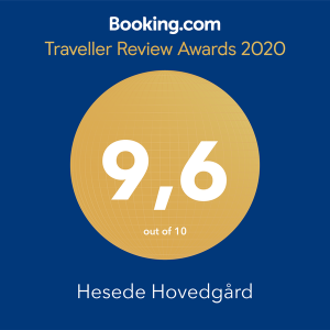 Booking.com Traveller Review Award 2020 Hesede Hovedgård 9,6 our of 10