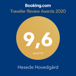 Traveller Review Award 2020 Hesede Hovedgård  9,6 out of 10